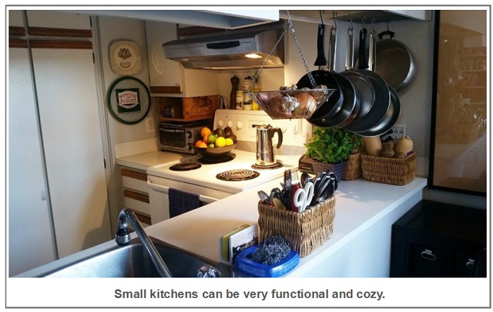 small kitchens can be very functional and cozy